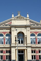 Facade of the City Theater from 1883 in the city Groningen