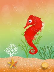 seahorse in the ocean