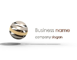 business name 3d vector