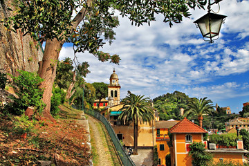 pictorial Portofino - luxury village of Ligurian coast, Italy