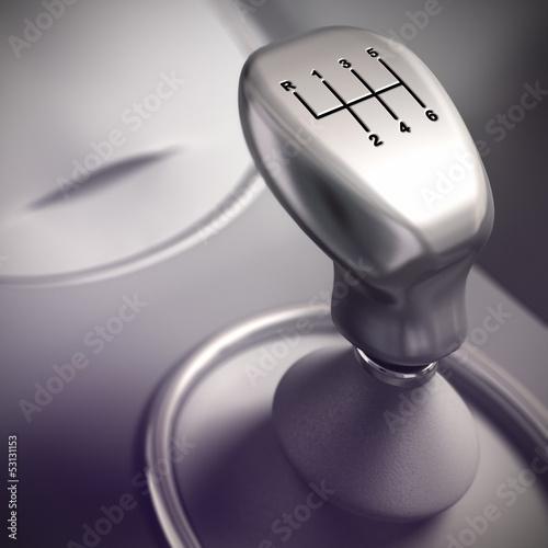Gear Shift Detail, Automobile