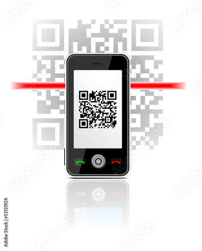 Phone scaned QR code