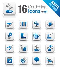 White Squares - Gardening icons