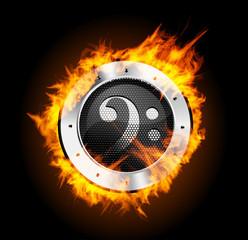Loudspeaker on Fire Isolated