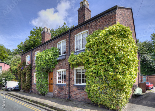 Detached House with Ivy, UK
