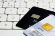 kreditkarten auf tastatur