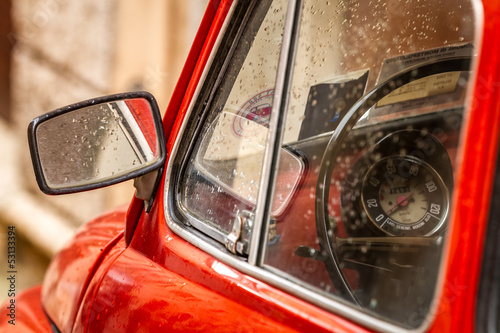 Fototapety, obrazy : Vintage red car in Italy
