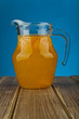 orange juice in a jug