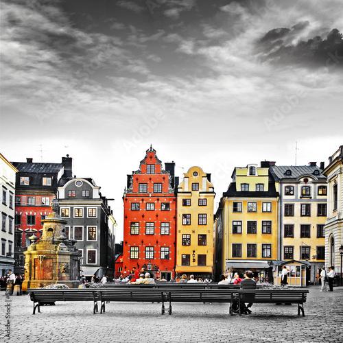 Staande foto Scandinavië Stockholm, heart of old town,