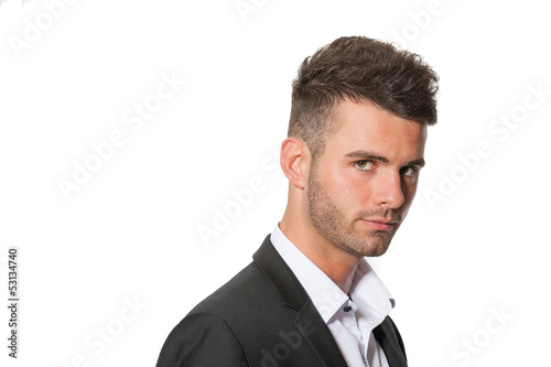Portrait of smart modern businessman in suit