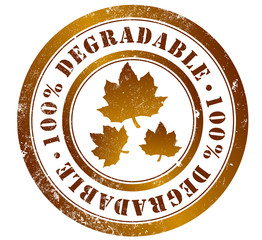 100% degradable stamp