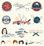 Vector Set: The Barbershop Labels and Icons poster