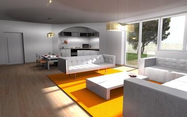 wohnen-kochen-essen / interior architecture