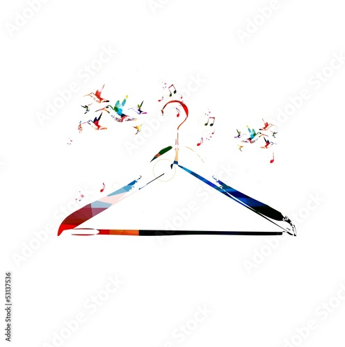 Colorful vector hanger background with hummingbirds
