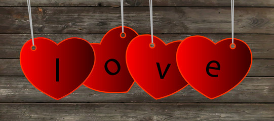 Vector love background