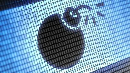 bomb icon on screen. Looping.