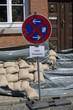 Halteverbot wegen Überschwemmung