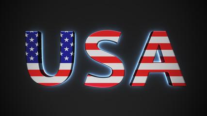 USA with american flag