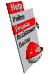 MENU HELP FIREMAN - 3D