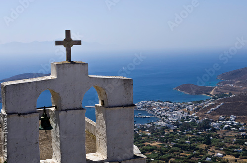 View from top of a hill, Cyclades, Greece