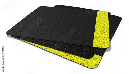 Rubber floor mat