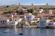 der Hafen von Chalki, Griechenland