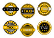 Taxi service emblems and signs
