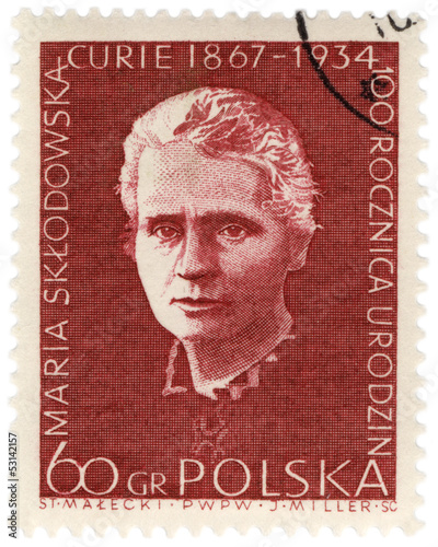 Portrait of a Polish scientist Marie Curie