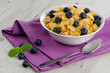 Cereal and blueberries