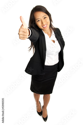 Thumbs up Asian Business Woman