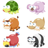 cute animal set