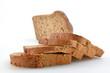 Dunkel Brot geschnitten