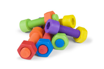 Colorful and funny nuts and bolts