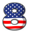 A number eight figure with the USA symbols