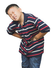 Asian boy with an abdominal pain