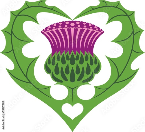 Scottish Heart & Thistle tattoo