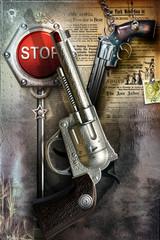 Old revolvers