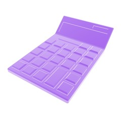 calculator purple