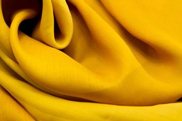 Golden satin textile