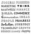 Hand drawn business words