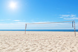 Beach a volleyball court at sea. Summer. poster