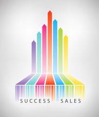Success electronic commerce concept