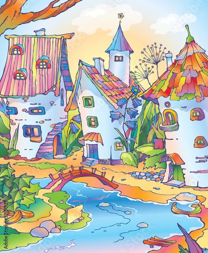 Fototapeten,märchen,fairy,cartoons,stadt siegen