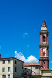 Church tower in Cairo Montenotte, Liguria