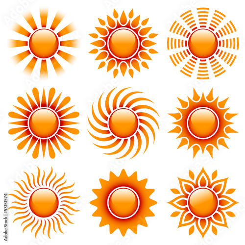 Sun Icons Orange/Red
