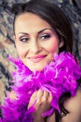 passionate in purple ostrich feathers