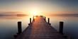 Leinwanddruck Bild - Stille am See