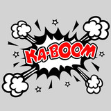 Kaboom - Comic Sprechblase Explosion