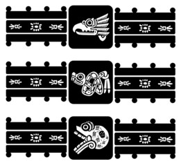 Mexican tribal symbols set. EPS 8