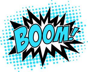 BOOM! Comic Sprechblase Explosion